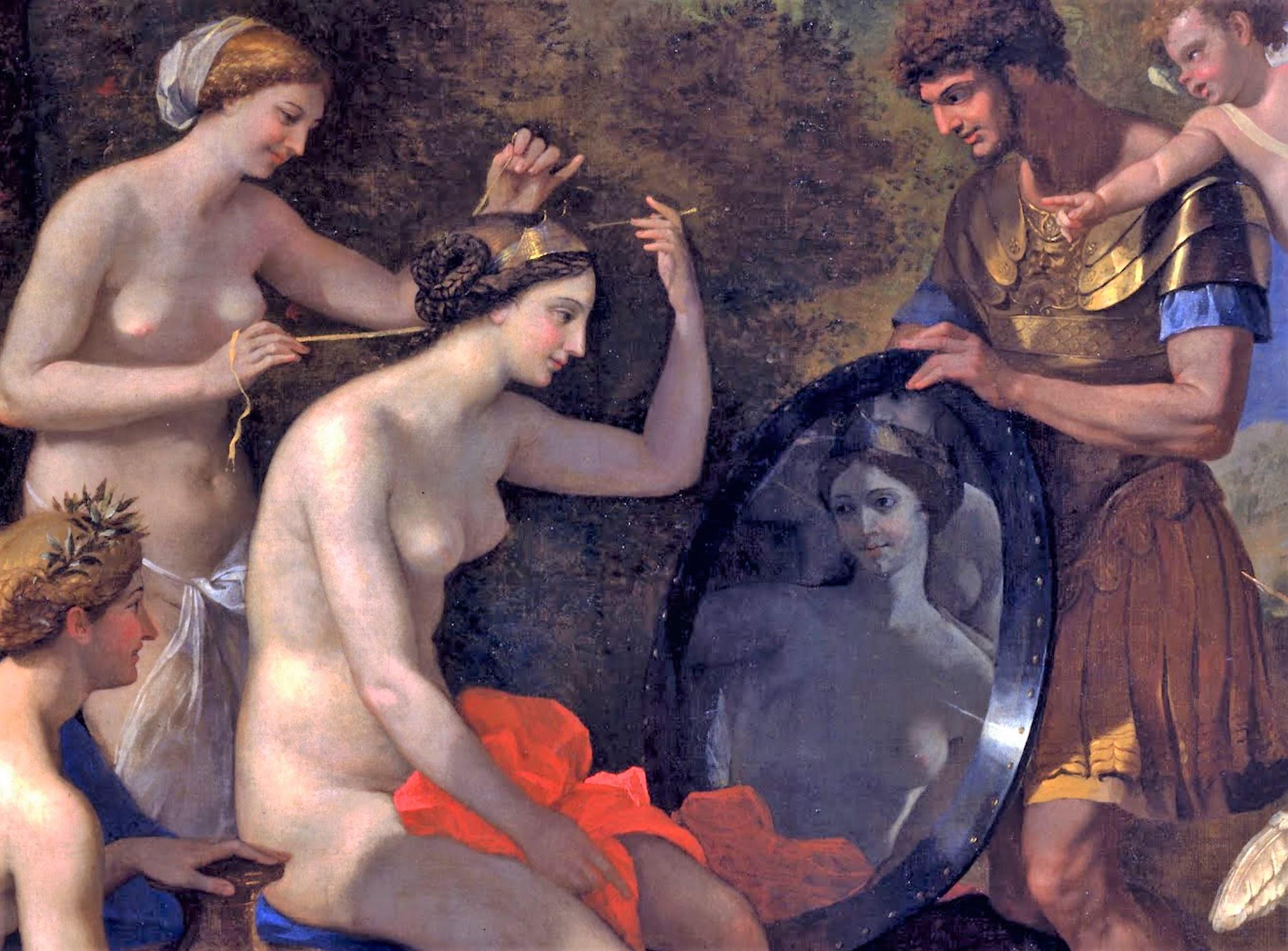 Mars et Venus Poussin 1632-34 Toledo museum of arts detail
