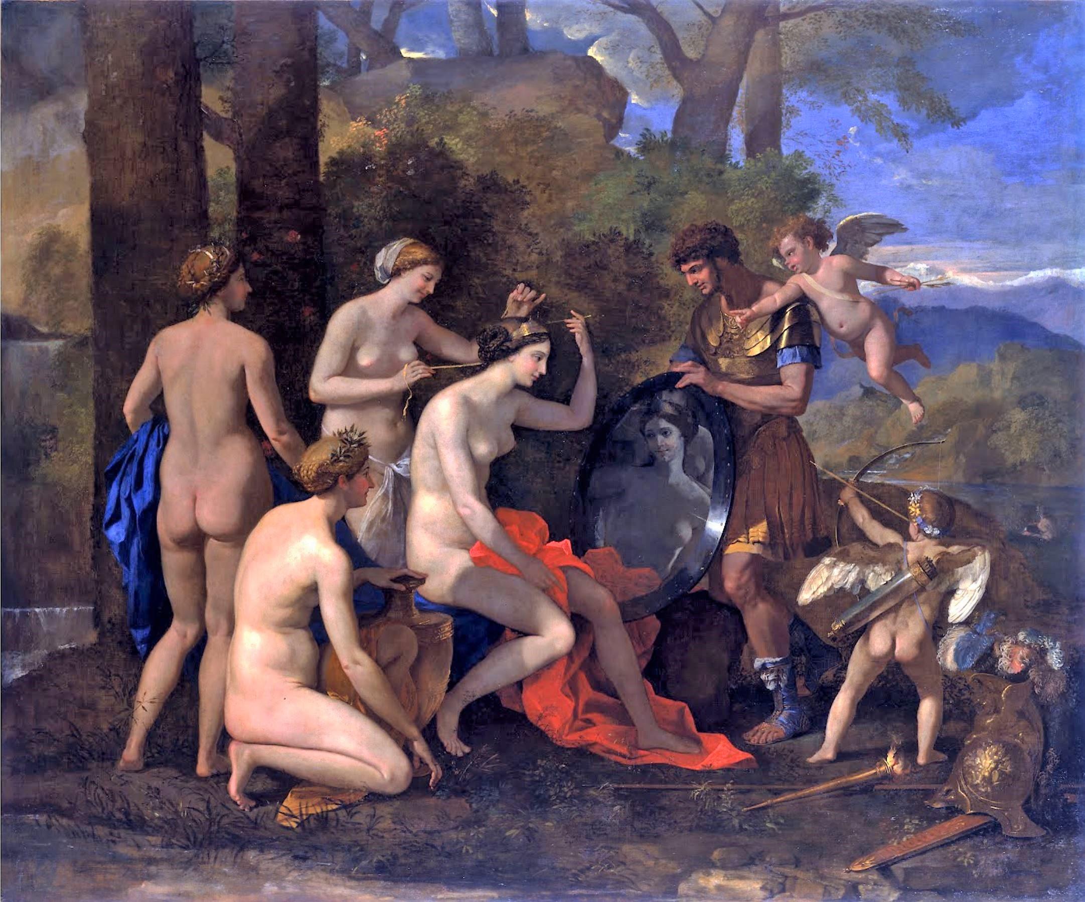 Mars et Venus Poussin 1632-34 Toledo museum of arts