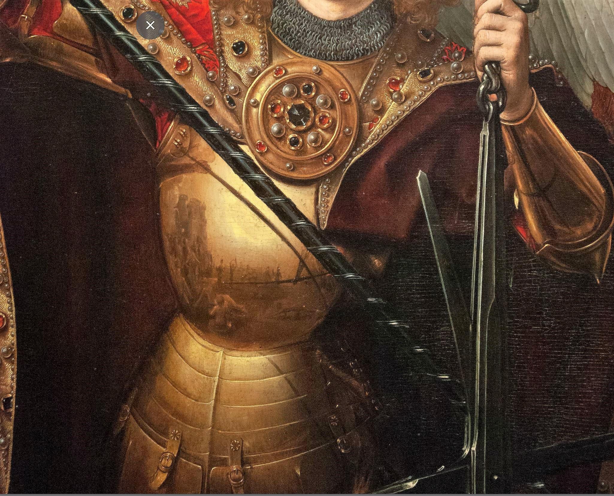 Memling 1467-1471 Jugement dernier Gdansk reflet trois contacts