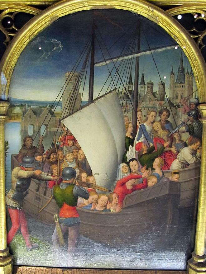 Memling 1489 Chasse de Ste Ursule Martyre a Cologne A Hopital St Jean Bruges