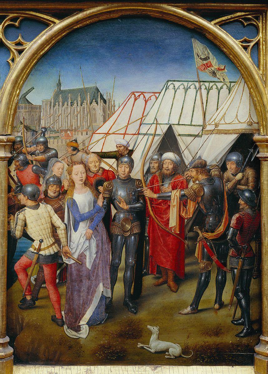 Memling 1489 Chasse de Ste Ursule Martyre a Cologne B Hopital St Jean Bruges