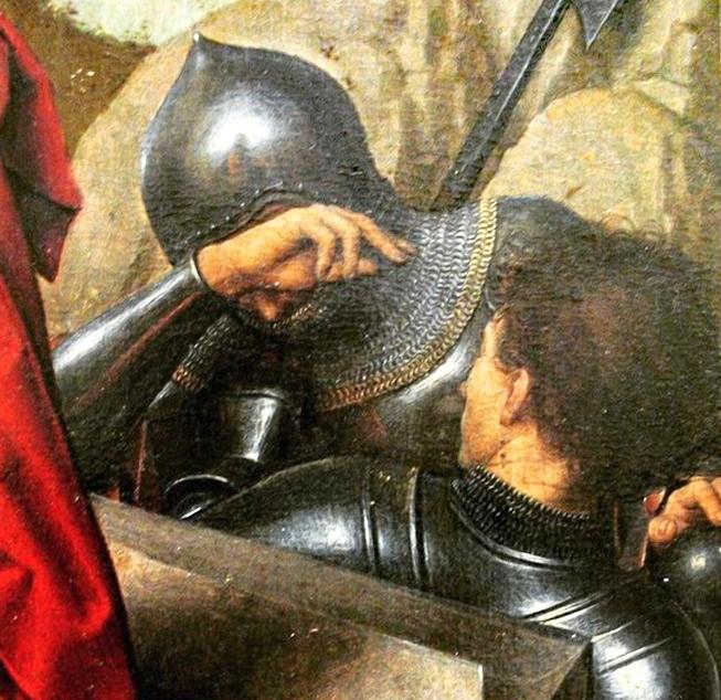 Memling 1490 Trittico della Resurrezione, Museo del Louvre detail