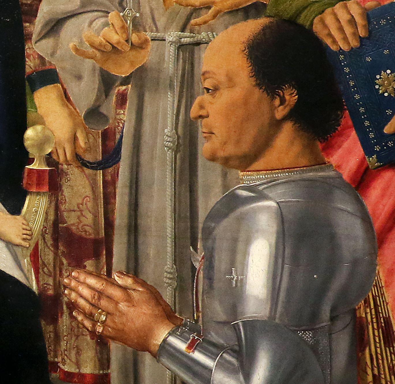 Piero della Francesa 1472 Retable de Brera (conversation sacree avec Federico da Montefeltro) Brera
