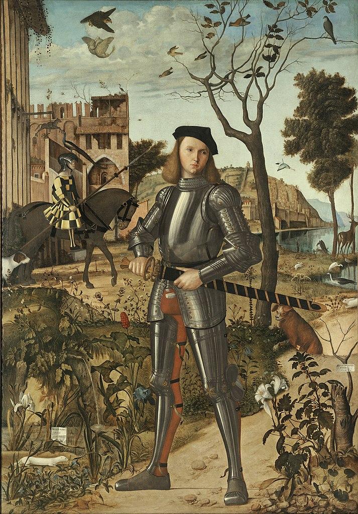 Portrait d'un chevalier Carpaccio, vers 1510, Musee Thyssen-Bornemisza, Madrid