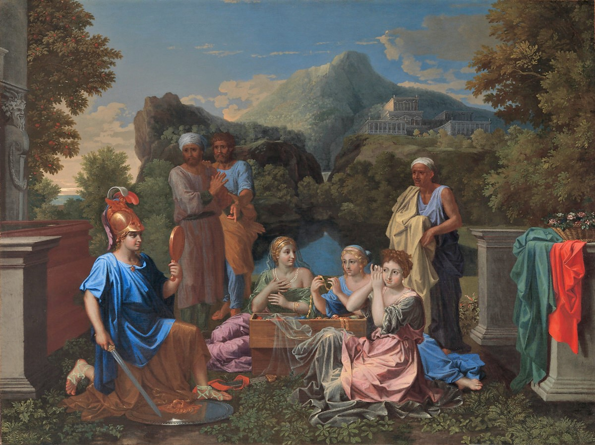 Poussin 1656 Achilles on Skyros Virginia museum of Fine Arts Richmond