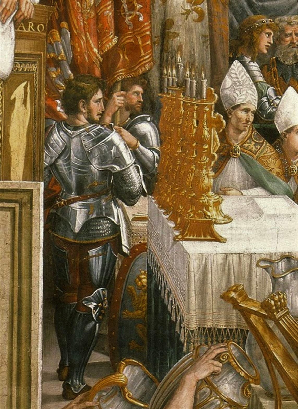 Raphael et atelier 1515-16 Couronnement de Charlemagne autel