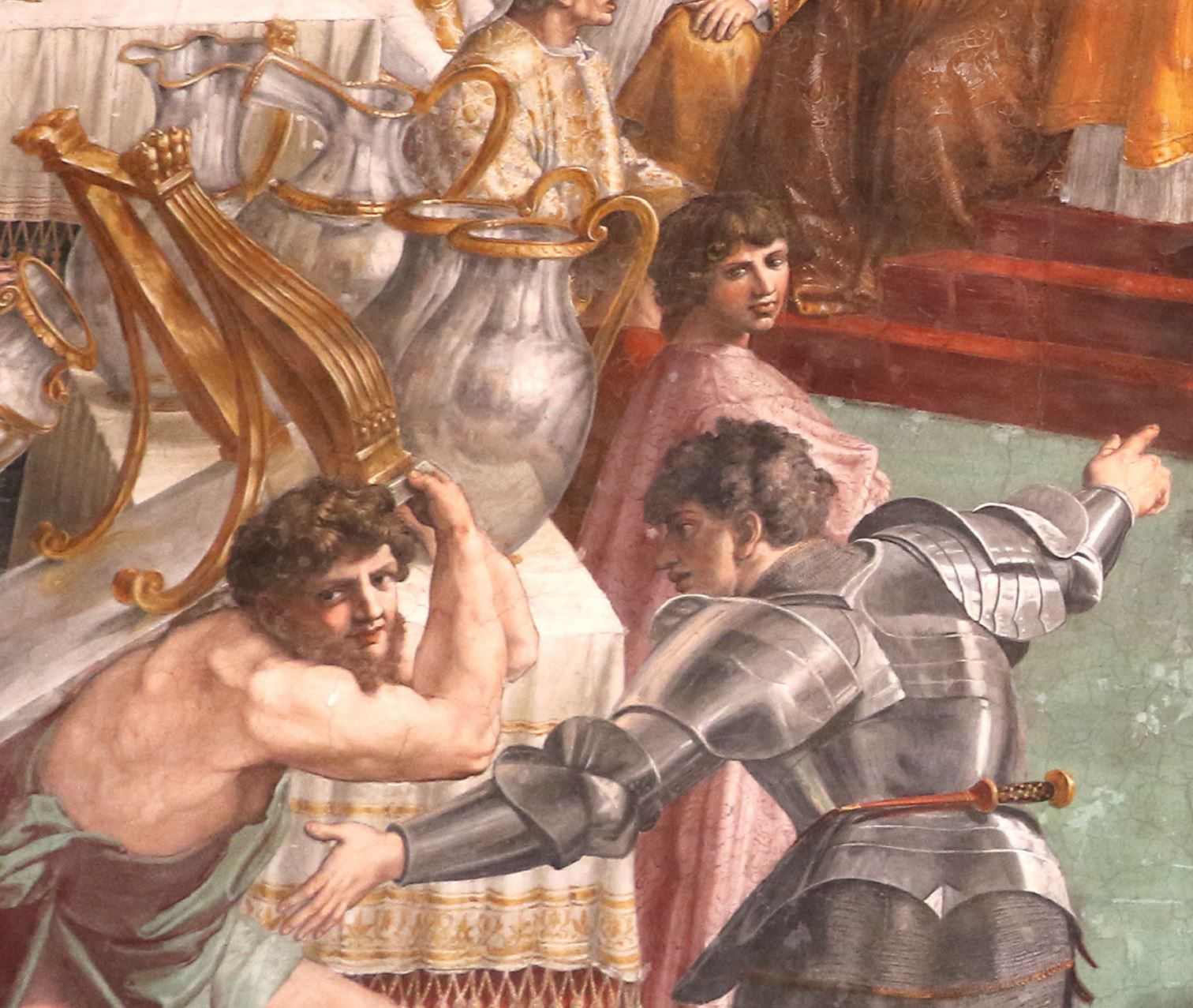 Raphel Couronnement de Charlemagne reflet vase