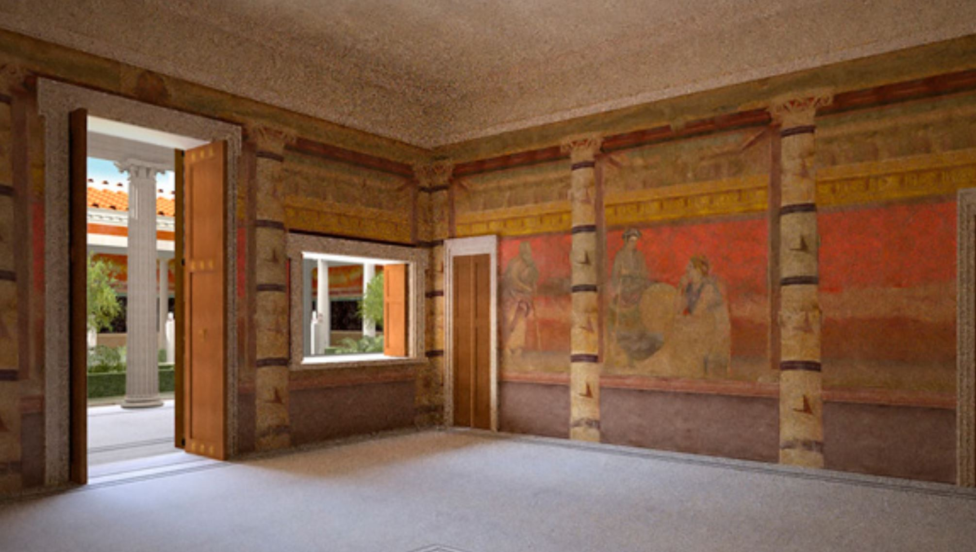 Room H of the Villa of P. Fannius Synistor at Boscoreale, ca. 40–30 B.C mur Ouest