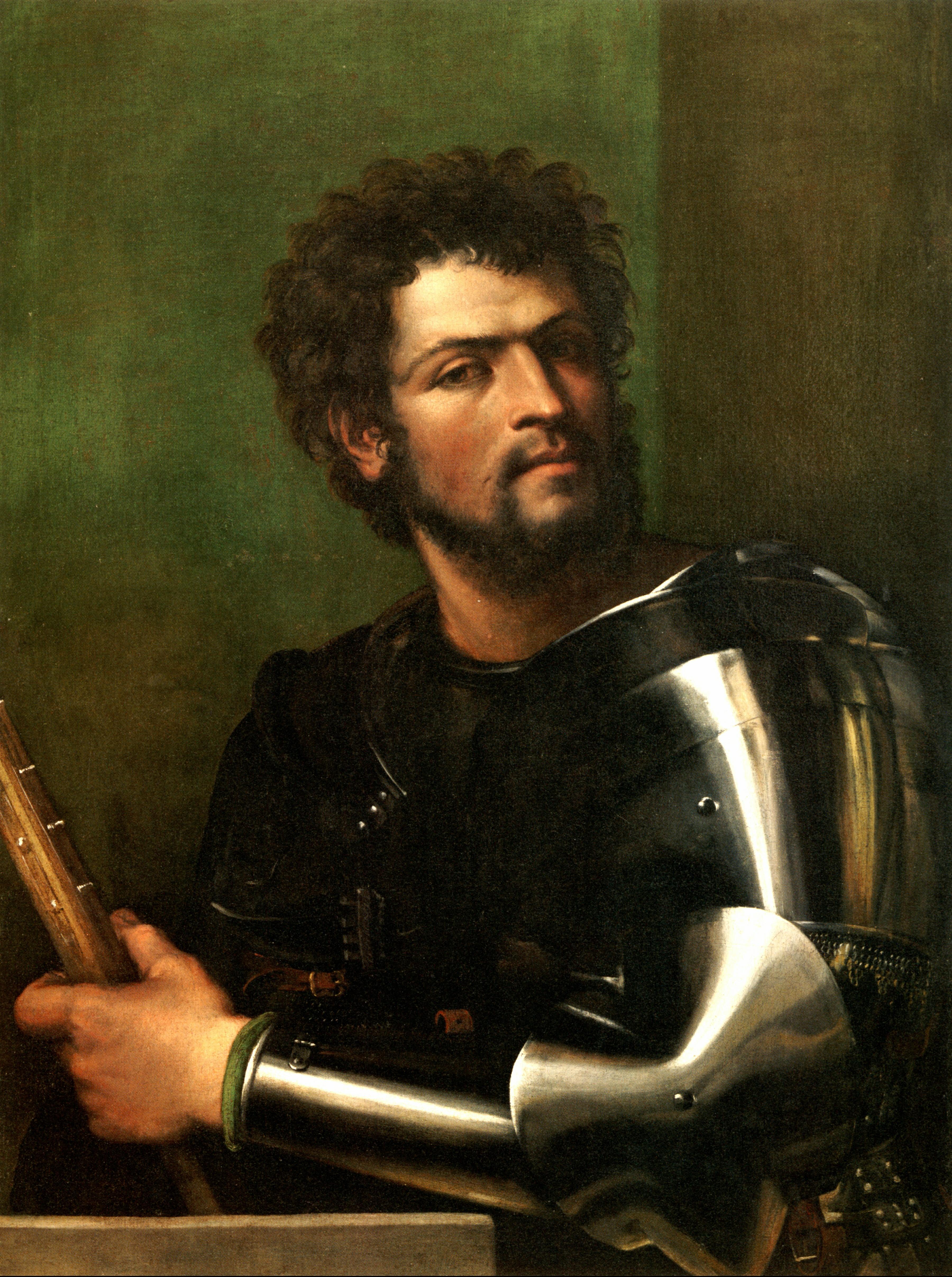 Sebastiano del Piombo, Man in Armor .c1511-1512 Wadsworth Museum