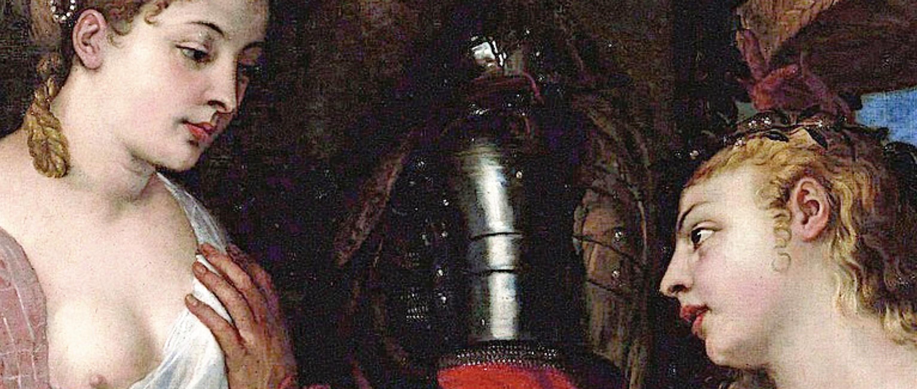 Titien 1530 ca Allegorie conjugale, dite a tort Allegorie d'Alphonse d'Avalos Louvre detail