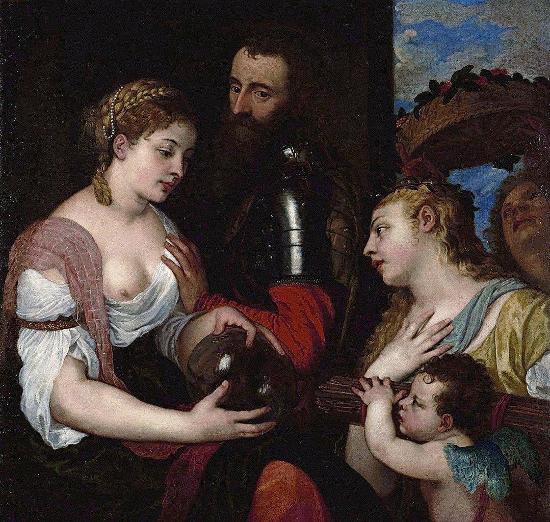 Titien 1530 ca Allegorie conjugale, dite a tort Allegorie d'Alphonse d'Avalos Louvre