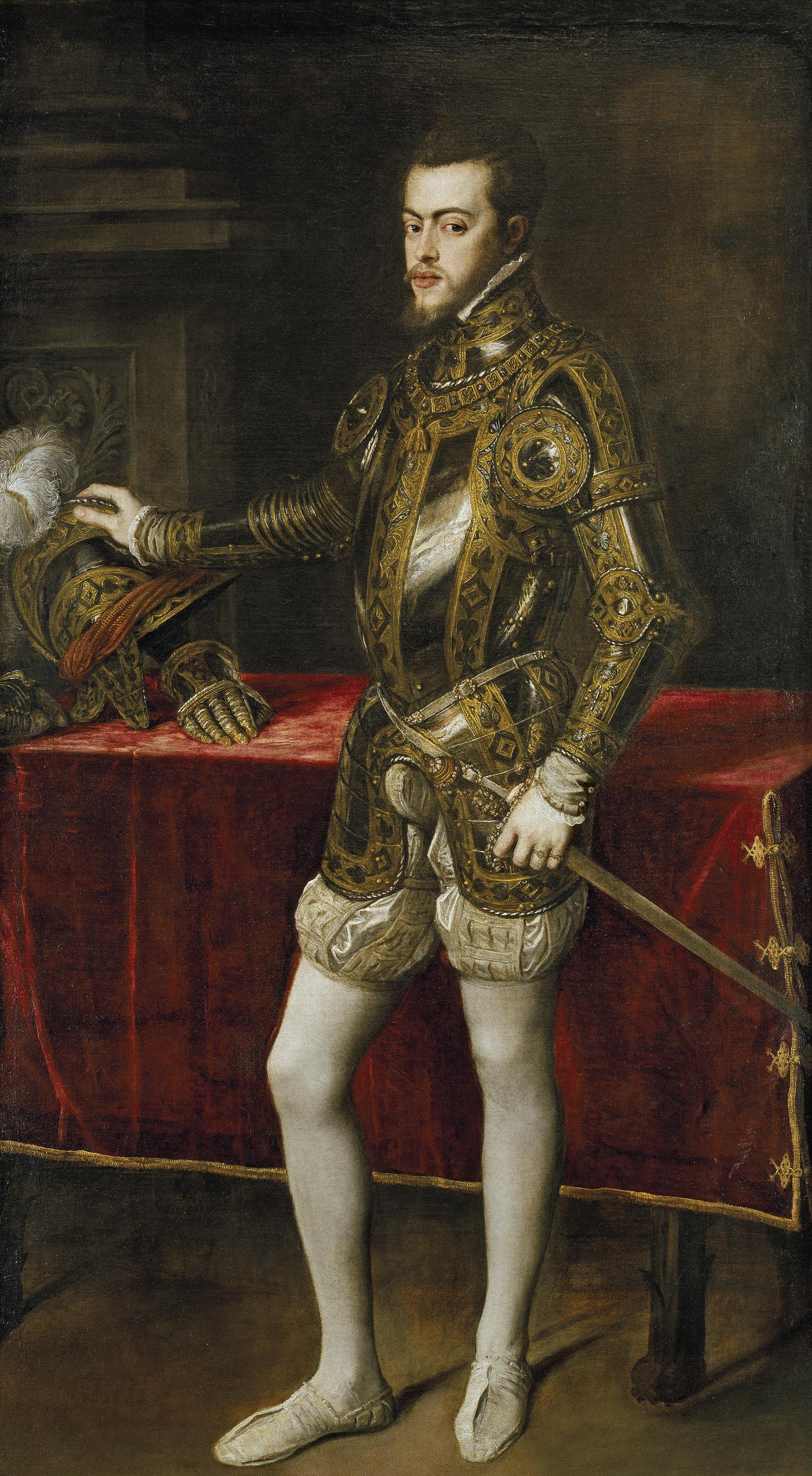 Titien Portrait de Philippe II 1551 Prado