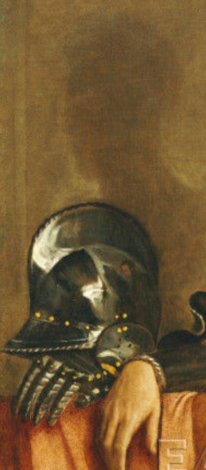 Veronese portrait d'un homme en armure coll part detail