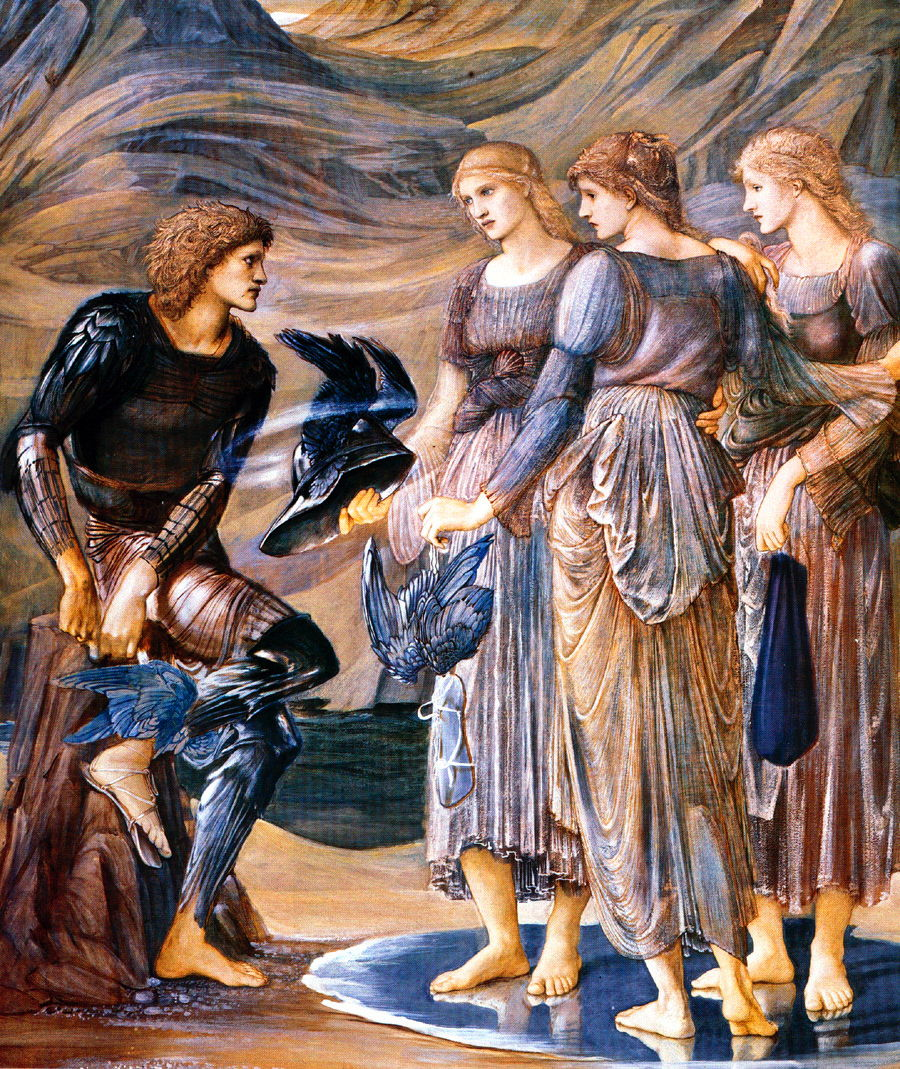 burne jones Cycle Persee 3 1877 persee et les nymphes de la mer Southampton City Art Gallery