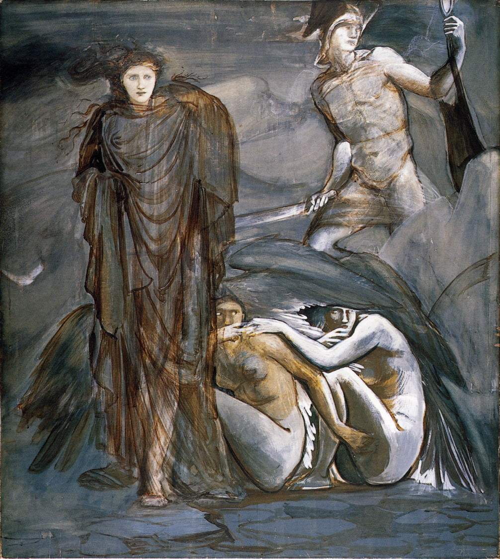 burne jones Cycle Persee 4 1882 aquarelle La decouverte de Meduse Southampton City Art Gallery
