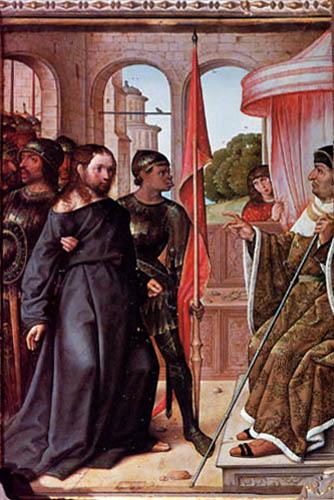 juan de Flandes 1509 Le Christ devant Pilate RETABLO MAYOR DE LA CATEDRAL DE PALENCIA