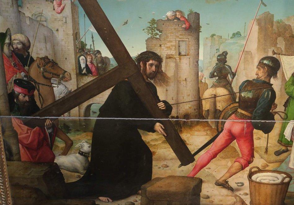 juan-de-flandes 1510 ca portement-de-croix Retablo de la catedral de Palencia