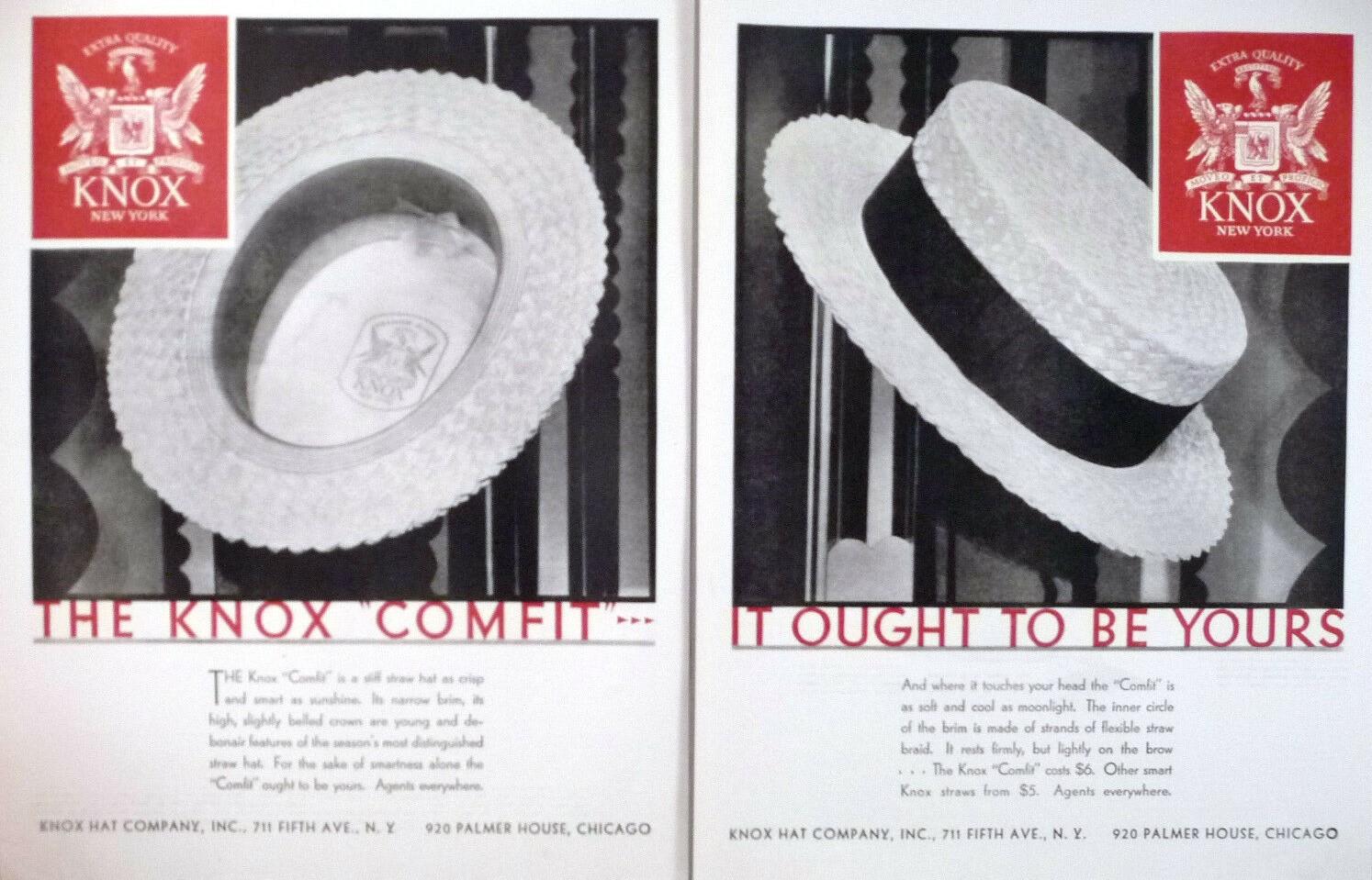 1929 Knox Straw Hat