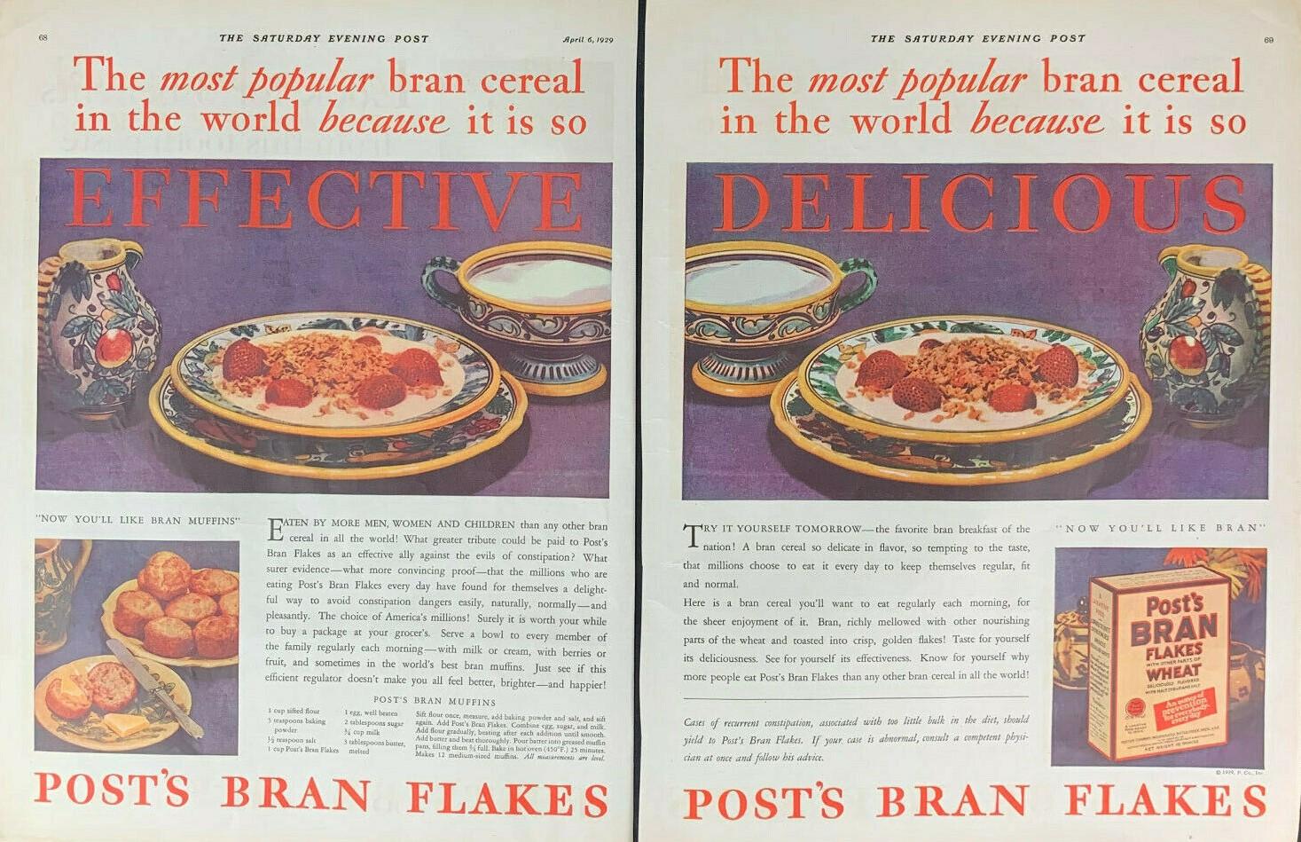 1929 POST BRAN FLAKES