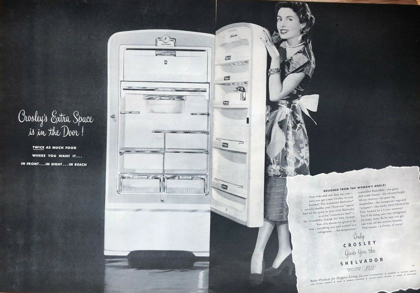 1950 CROSSLEY Refrigerator