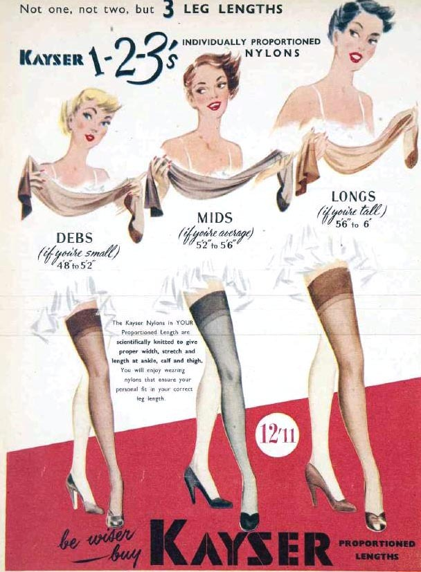 1950 ca kayser stockings