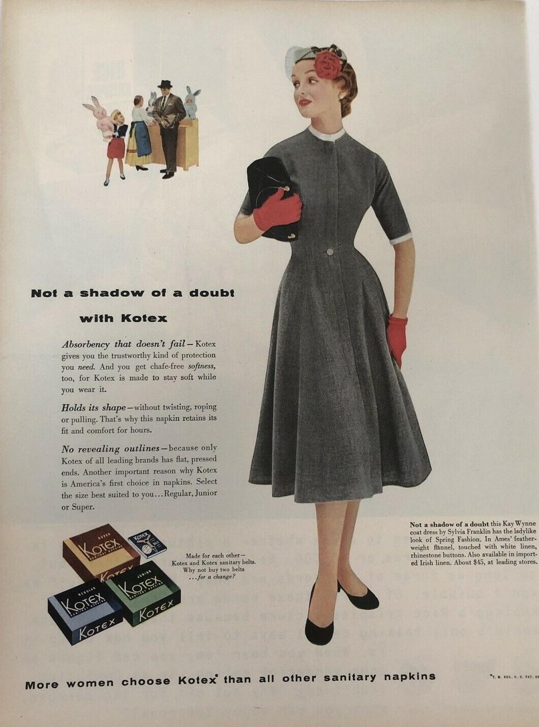1954 KOTEX pas l'Ombre d'un doute