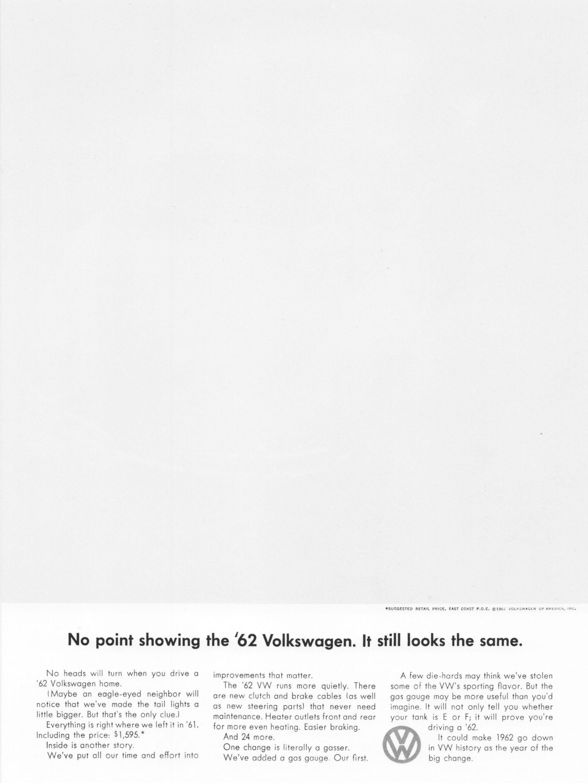 1961 volkswagen Aucun point distintif pour la Volkswagen 62. Elle semble toujours la meme.