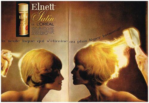 1964 Laque cheveux Elnett Satin de L'Oreal