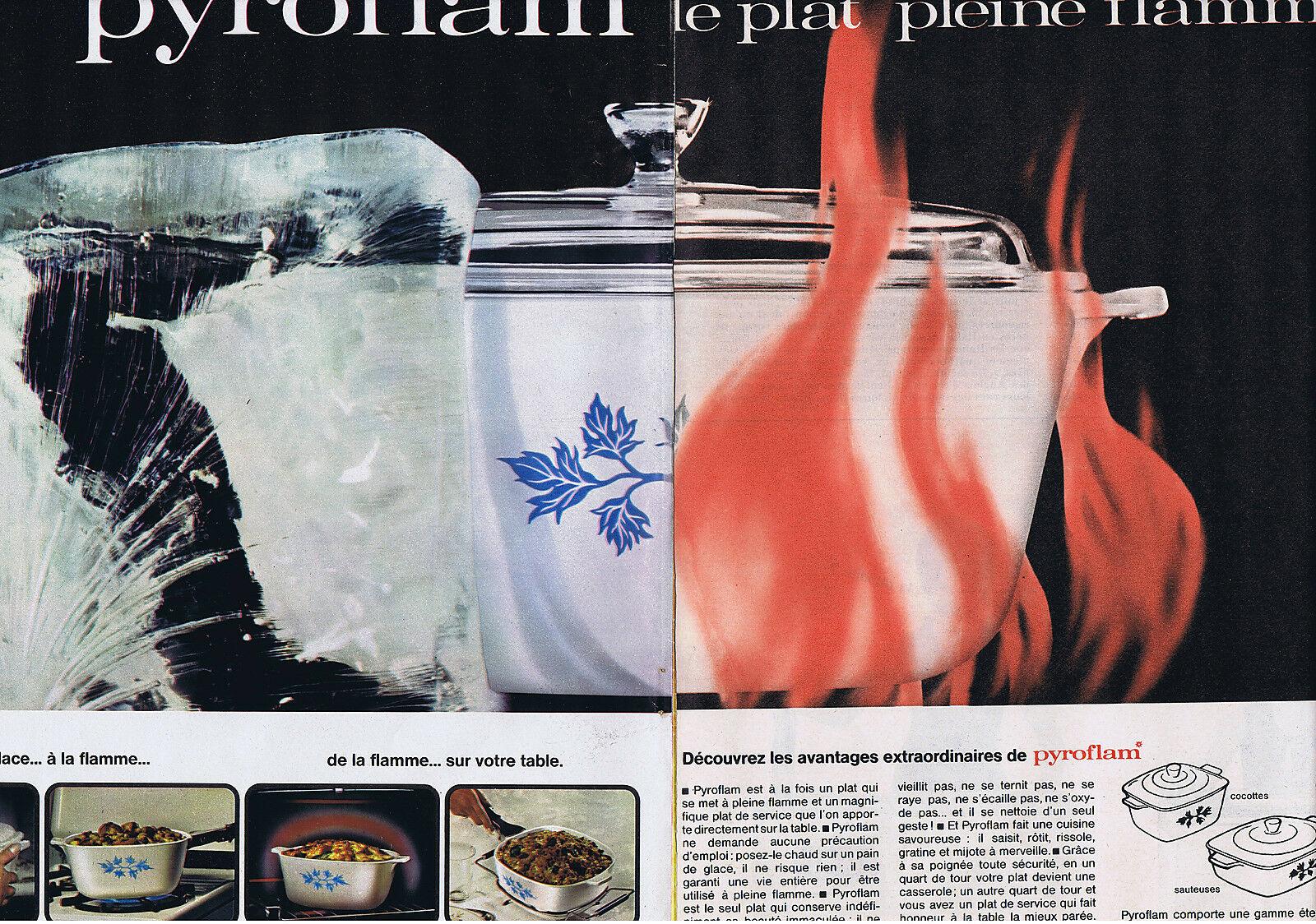 1964 PYROFLAM le plat pleine Flamme