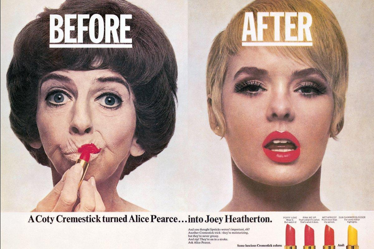 1965 ca, Coty lipstick. Art direction by George Lois.