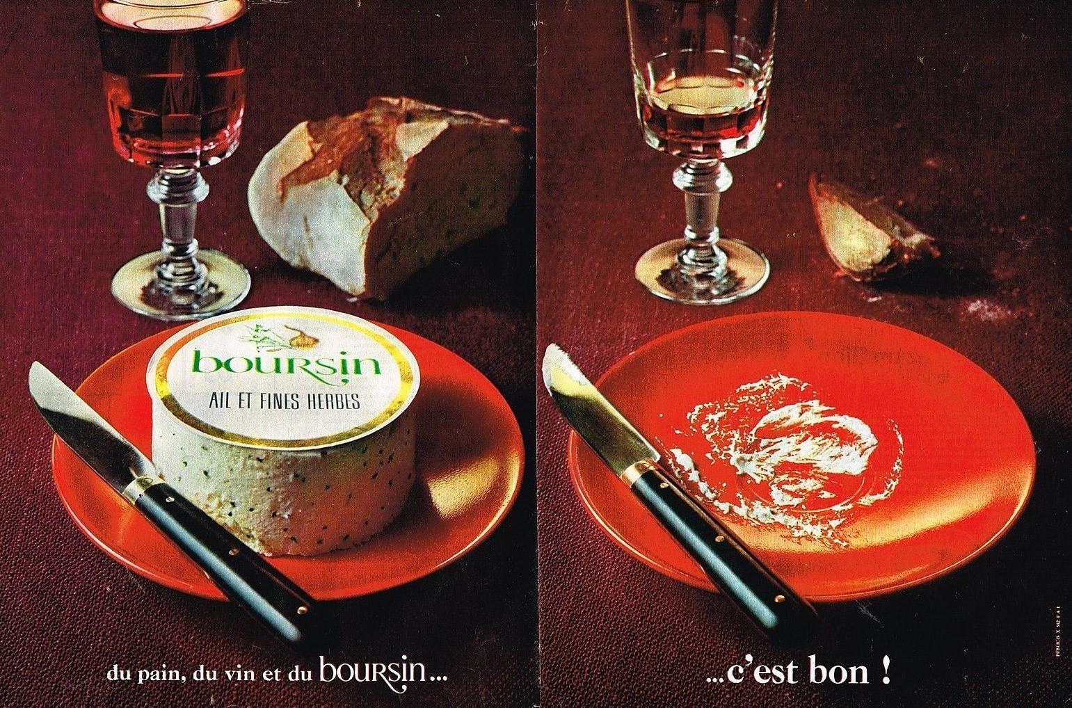 1967 Fromage Boursin Ail et Fines Herbes