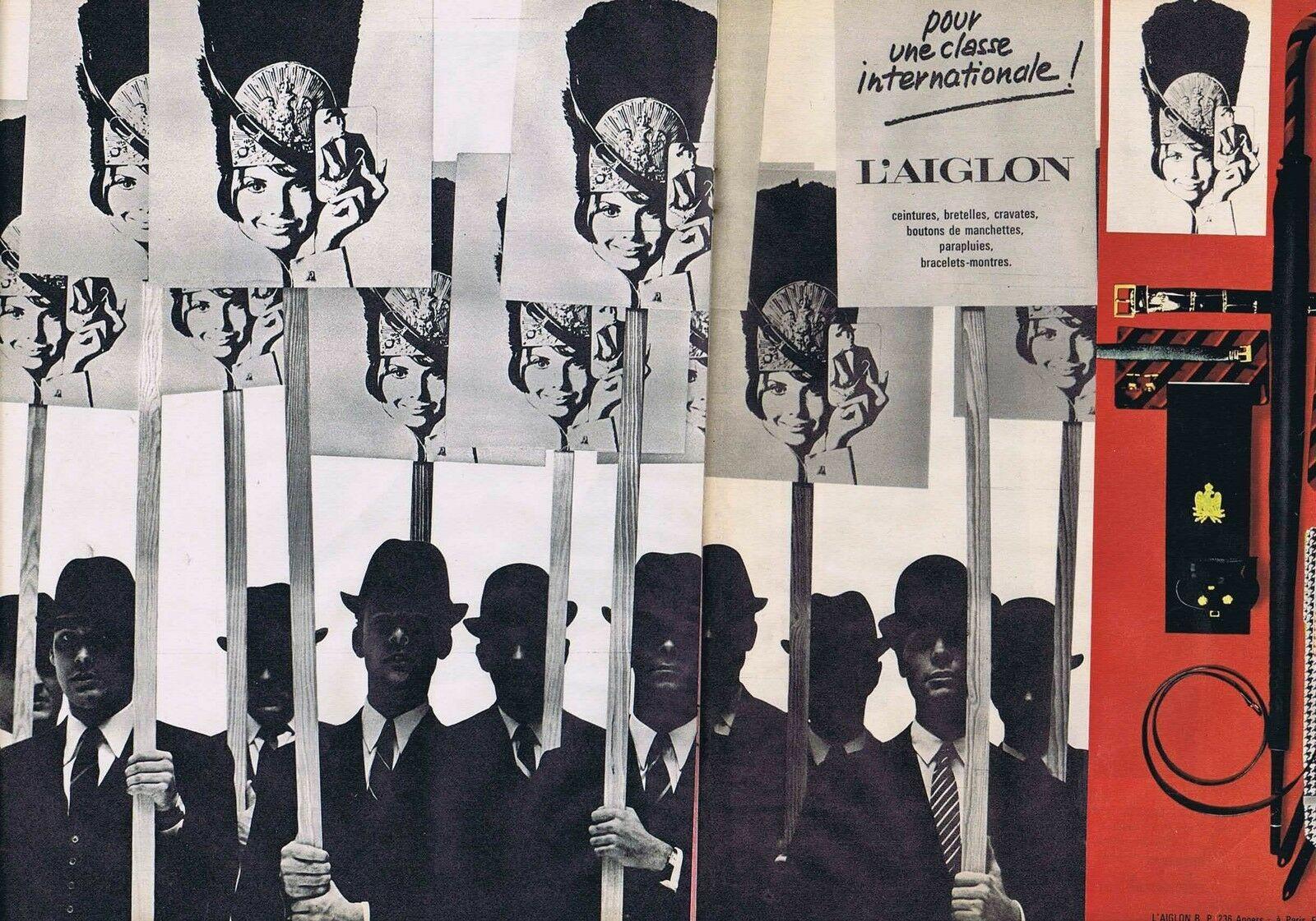 1967 L'Aiglon ceintures bretelles parapluies