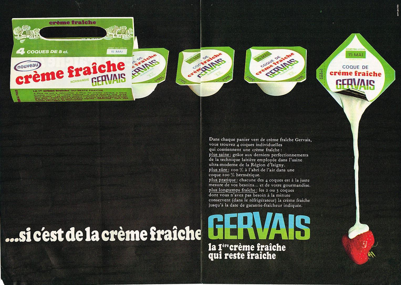 1968 GERVAIS creme fraiche en coque