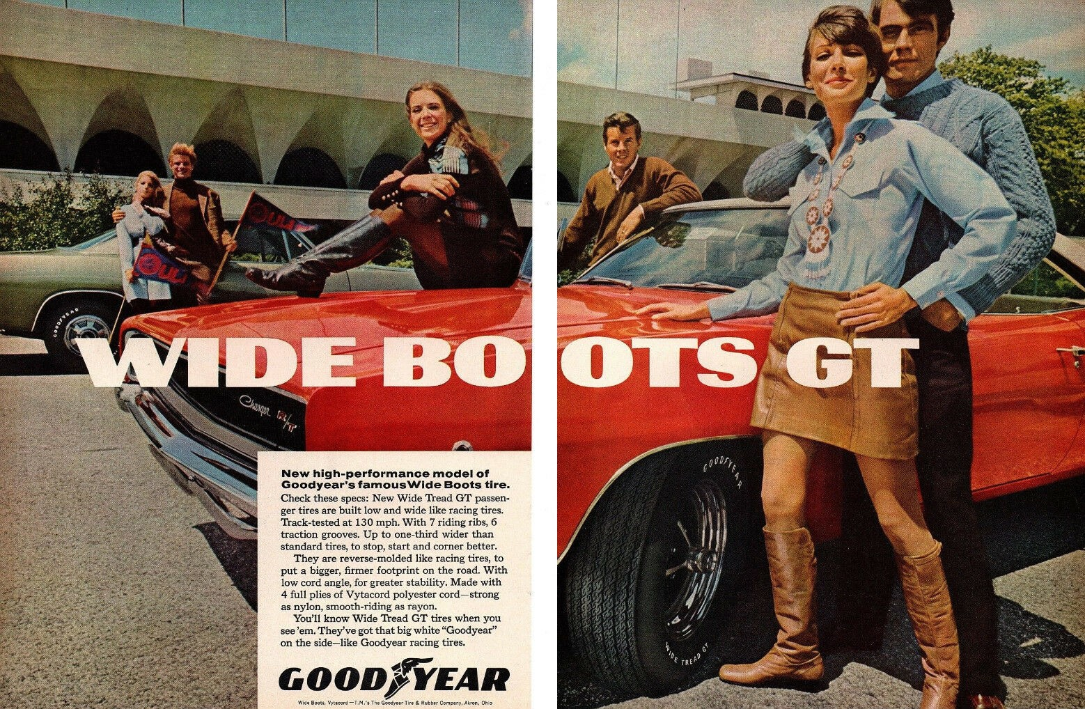 1968 GOODYEAR A0 DODGE CHARGER et PLYMOUTH BARRACUDA