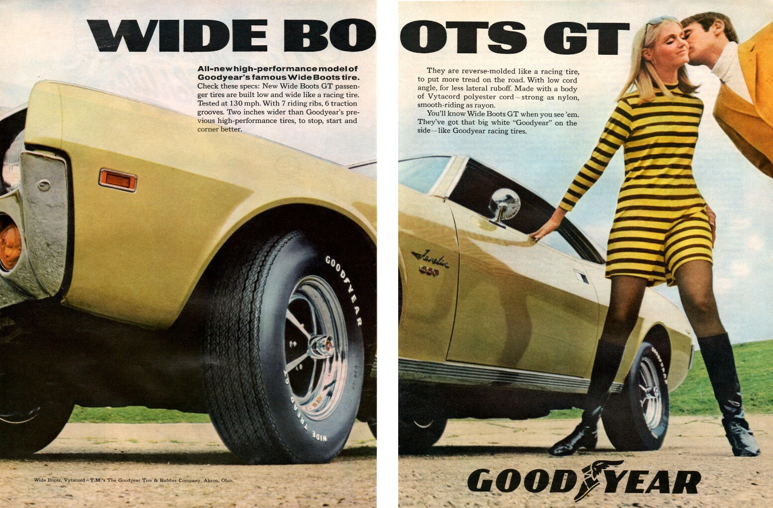 1968 GOODYEAR A2 AMC JAVELIN SST
