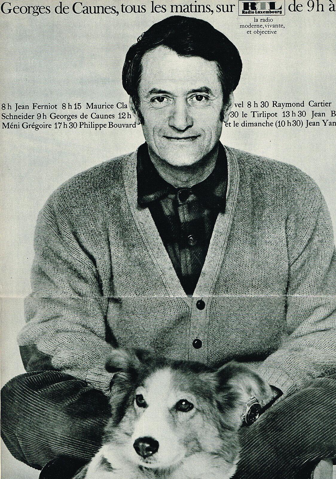 1968 RTL radio Georges de Caunes B