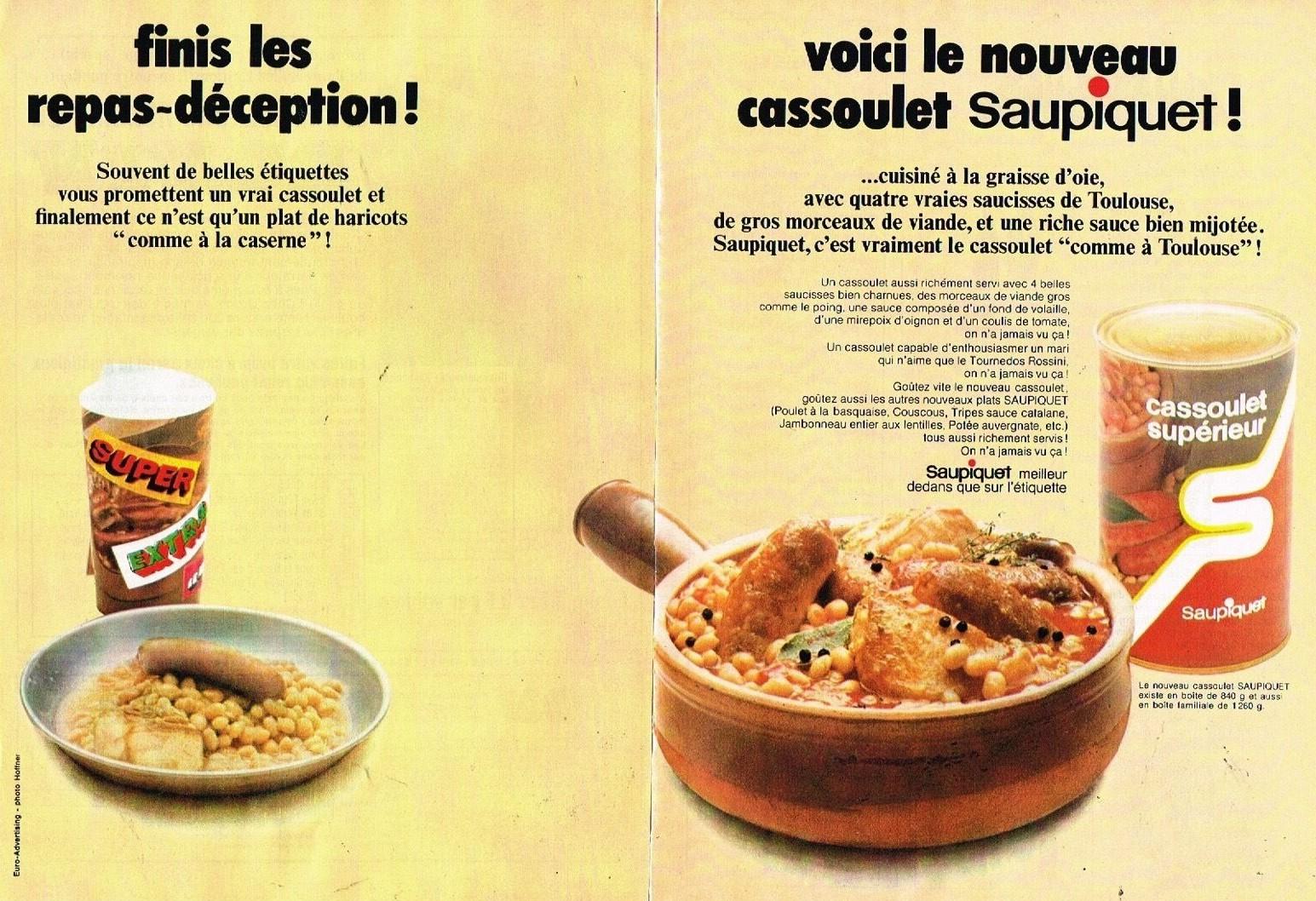 1970 Saupiquet cassoulet
