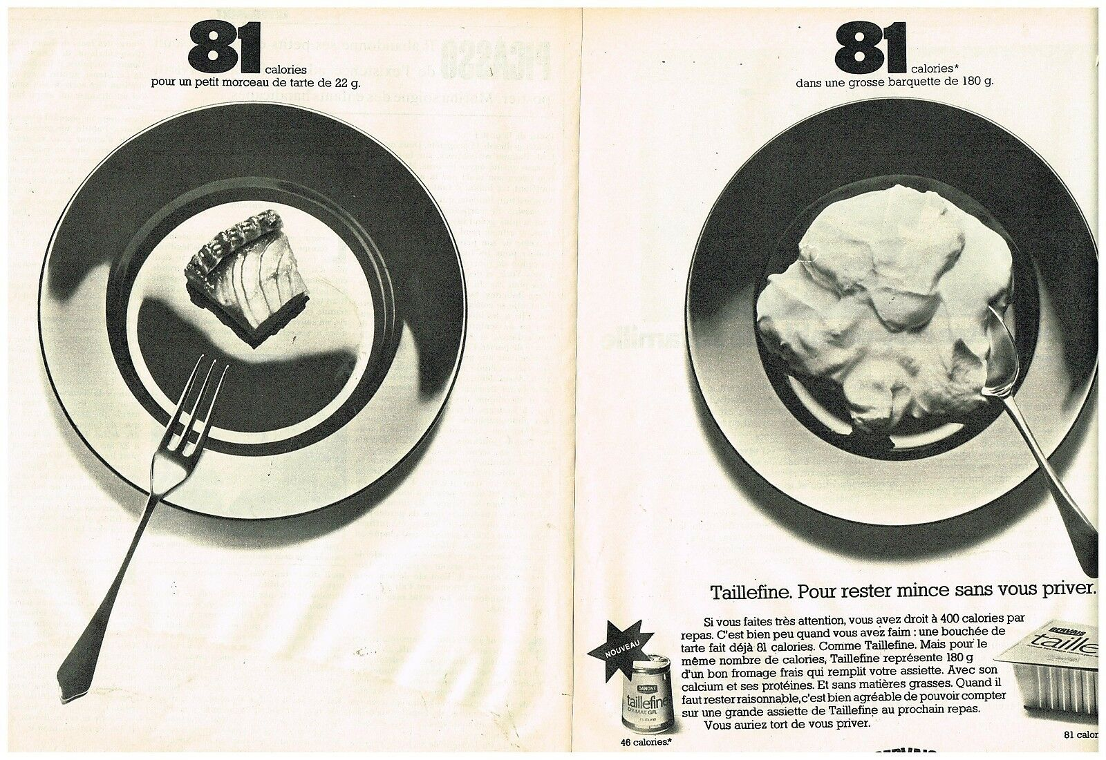 1973 Desserts Taillefine de Gervais