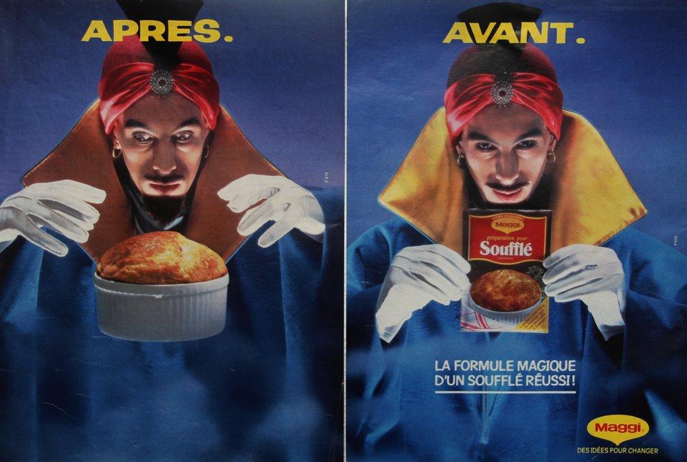 1984 Preparation pour souffle Maggi Photographe J.B Mondino