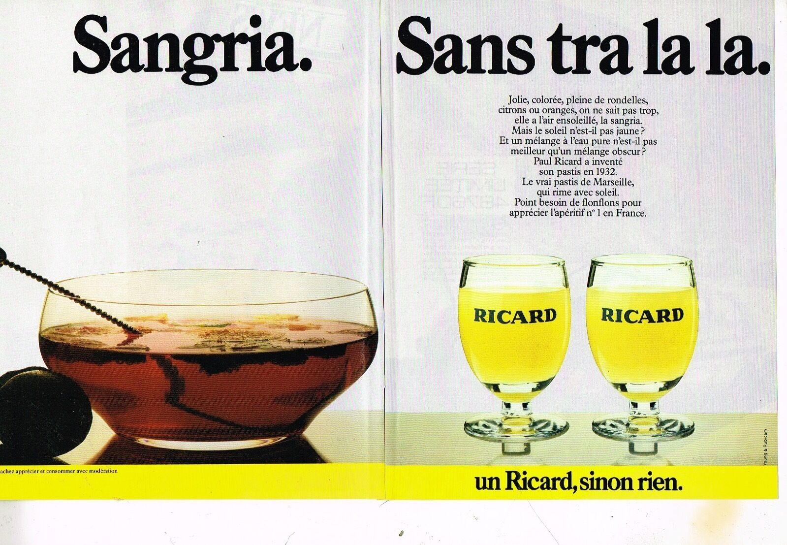 1984 Ricard Sangria Sans tralala