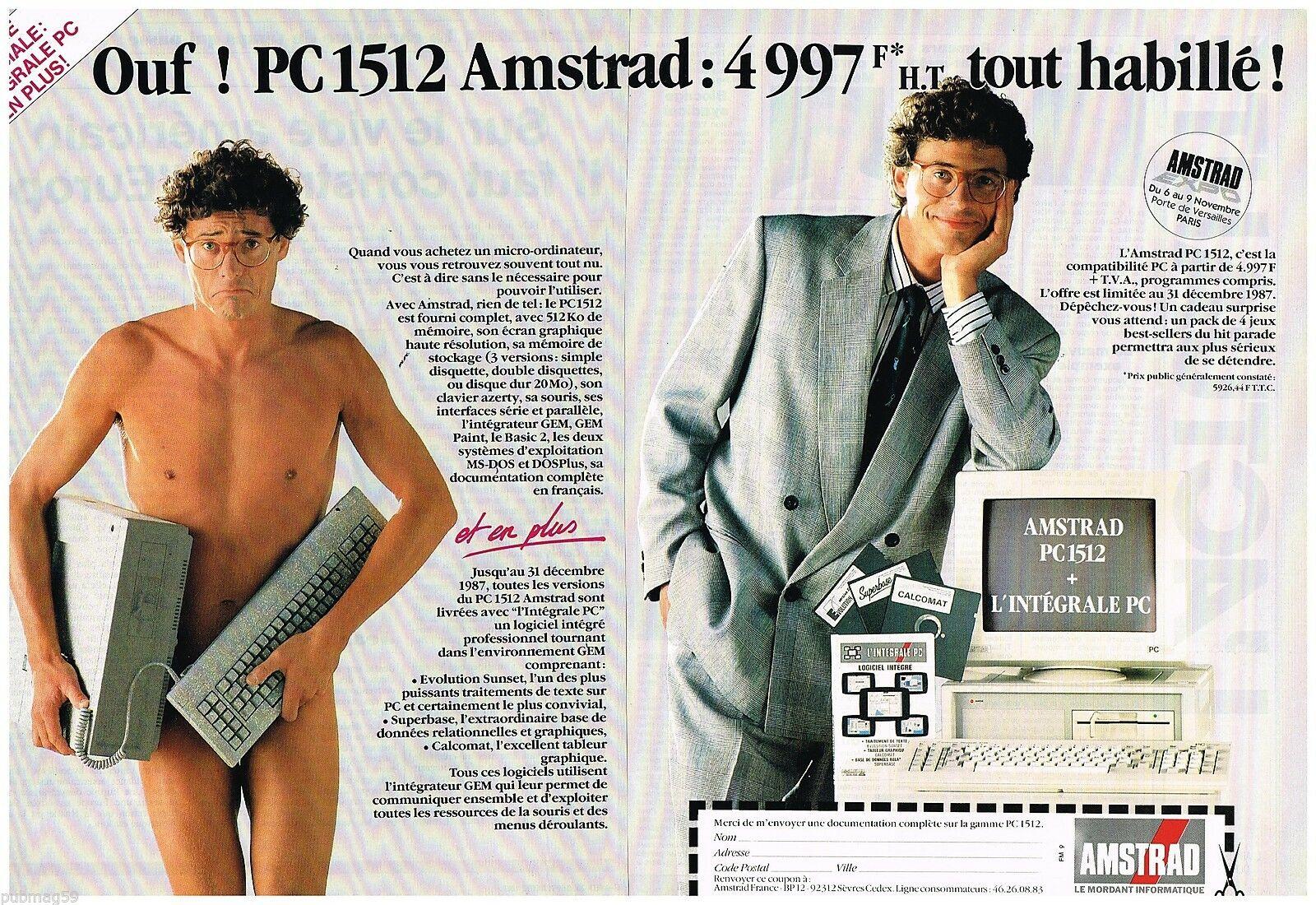 1987 Ordinateur PC 1512 Amstrad