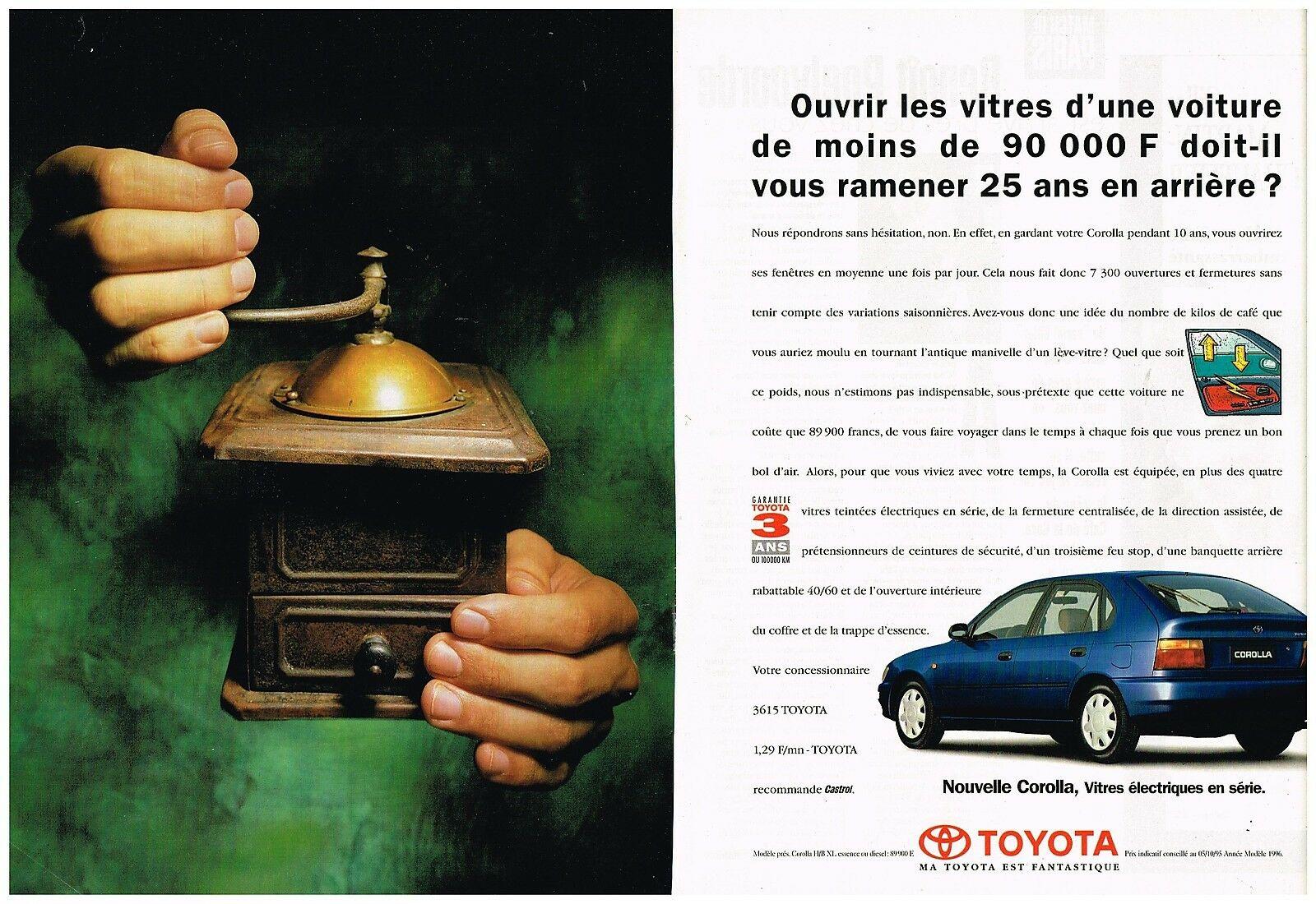 1995 La Nouvelle Toyota Corolla