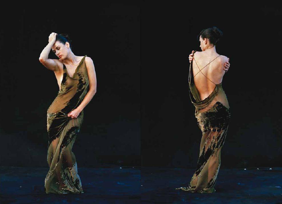 1996 Demi Moore pour Donna Karan par Peter Lindbergh