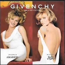 1998 Givenchy Parfums Amarige et Extravanganza Model Eva Herzigova Photo Michel Comte