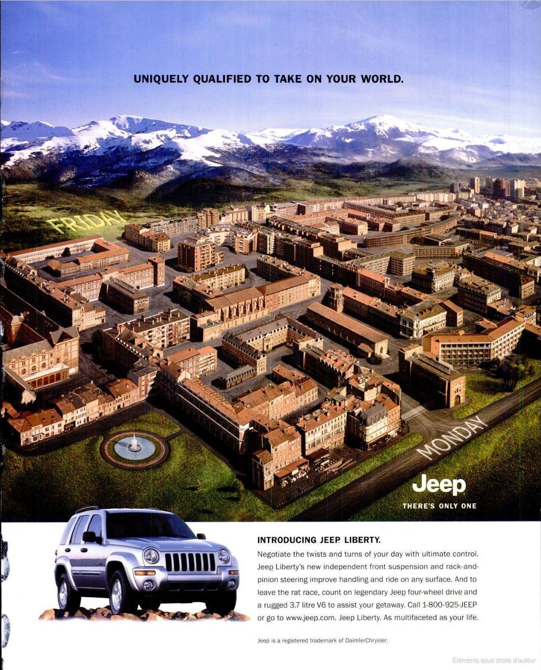 2002 Jeep Liberty Specialement qualifiee pour affronter votre monde monopage