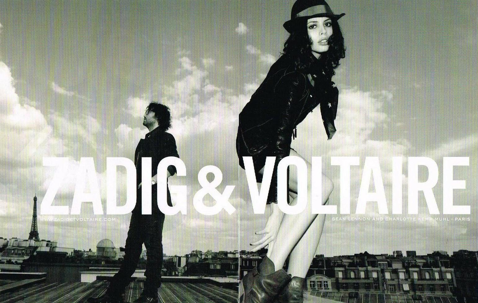 2009 Zadig et Voltaire Sean Lennon Charlotte Kemp A1