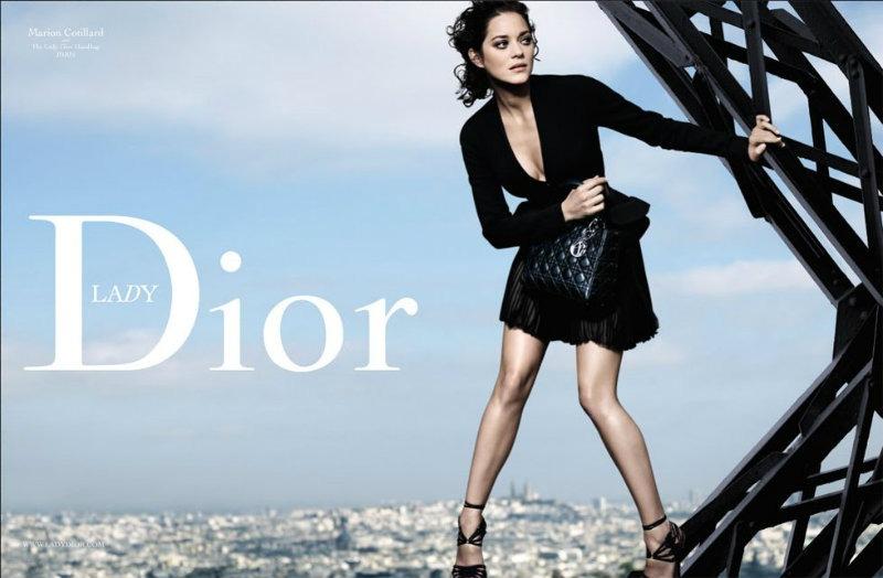 Dior A 2009 Marion CotillardPeter lindbergh Lady Black Paris Tour Eiffel