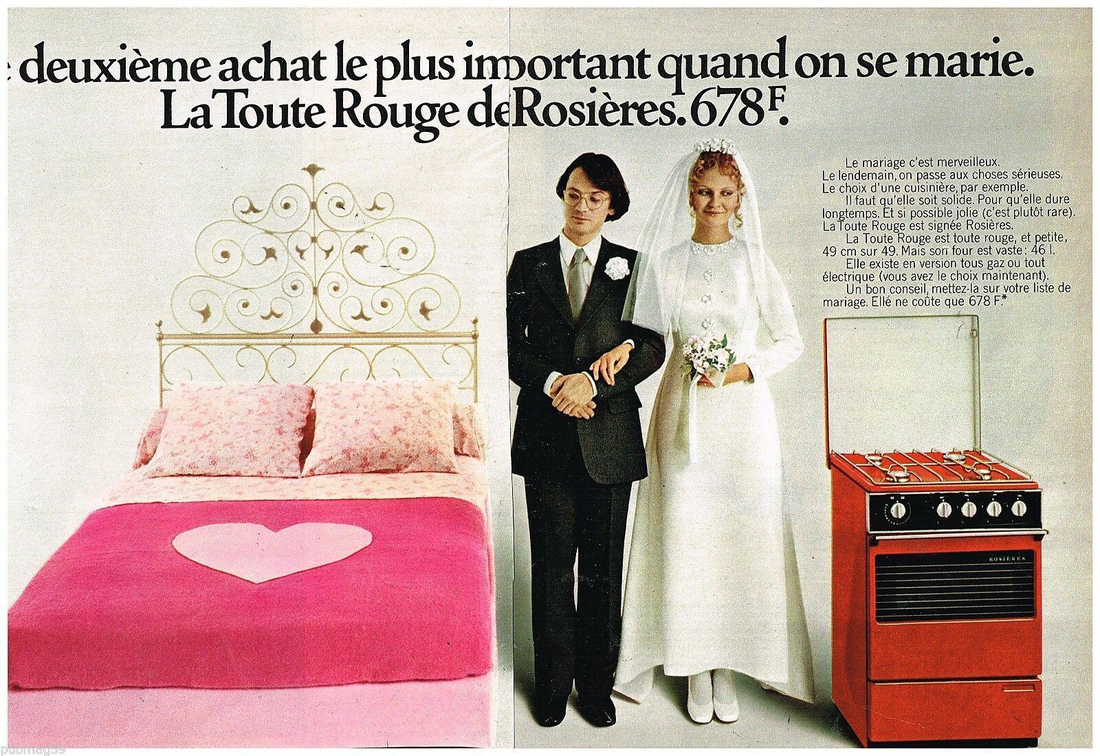 La Cuisinière Rouge Rosières 1973