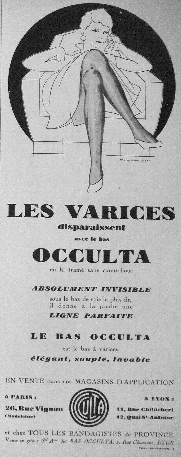 Occulta 1929 ca Bas-Occulta-Les-Varices-Disparaissent