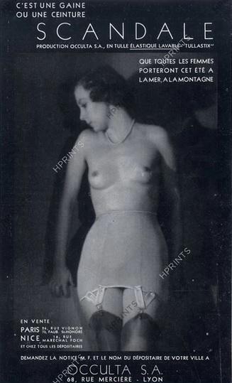 Occulta 1933 Scandale